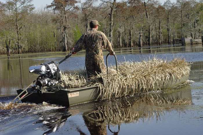 Grass Boat Blinds